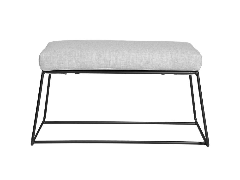 Eurohome Металлическая черная скамейка с мягким сидением 80 х 45 х 42 см TOYJ19-547