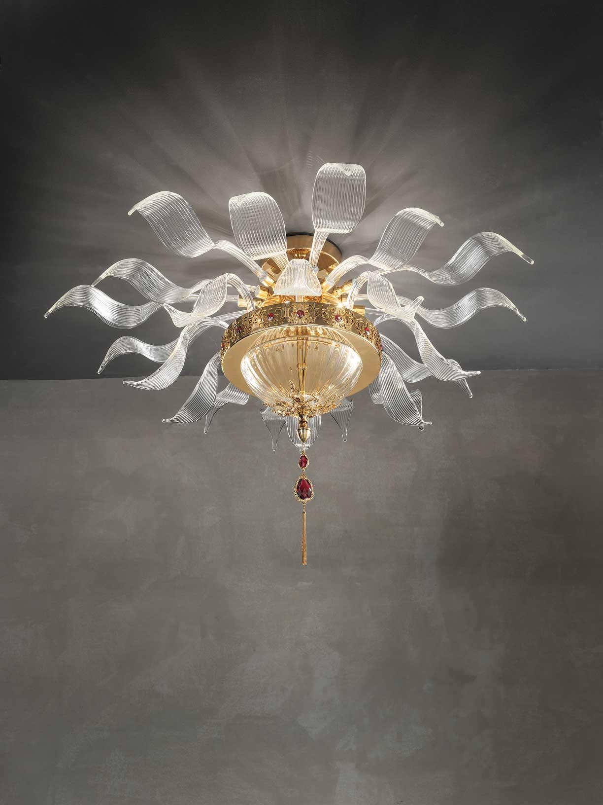 Euroluce Lampadari Люстра Julienne потолочная (прозрачный, дымчатый, зеркальный, янтарный)