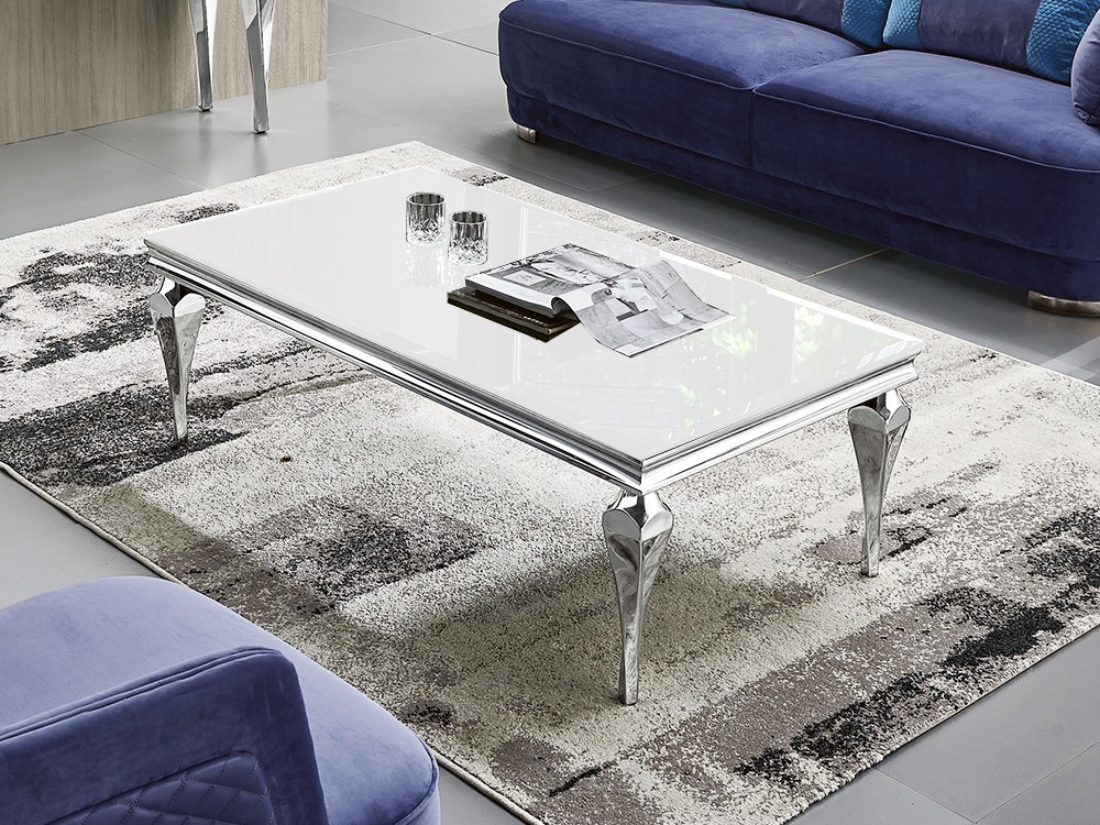 Eurohome Белый журнальный столик 130 х 70 х 40 см C951