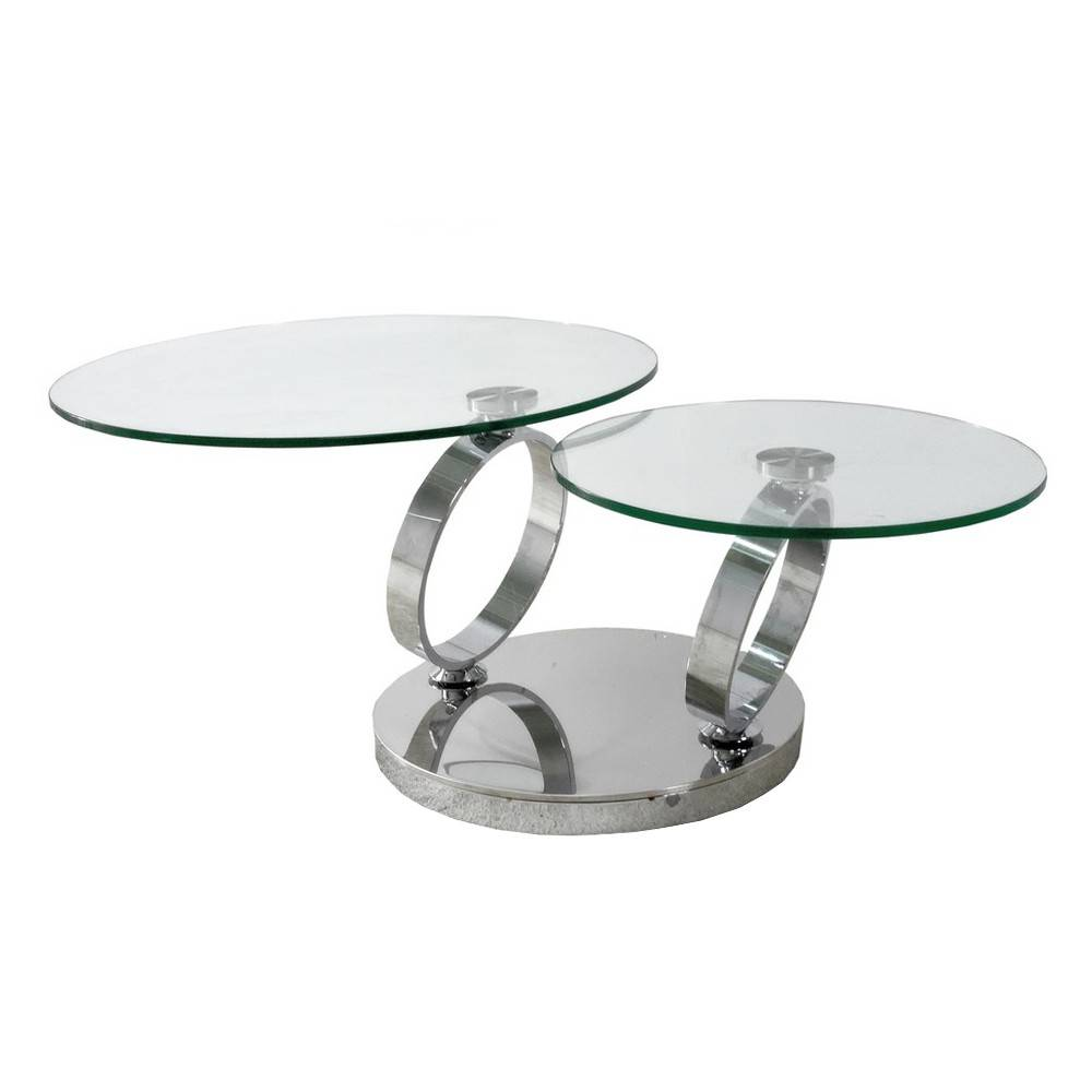 Eurohome Журнальный столик с двумя вращающимися столешницами C96