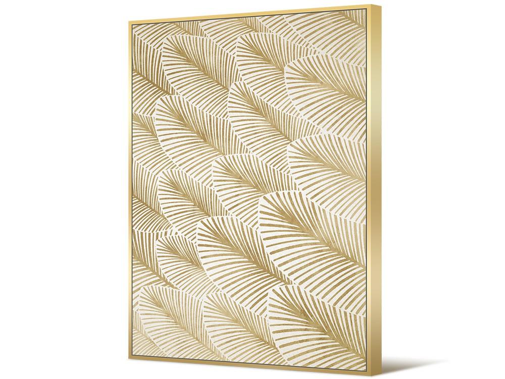 Eurohome Золото и белое Арт-деко живопись 82 х 122 см TOIF23226