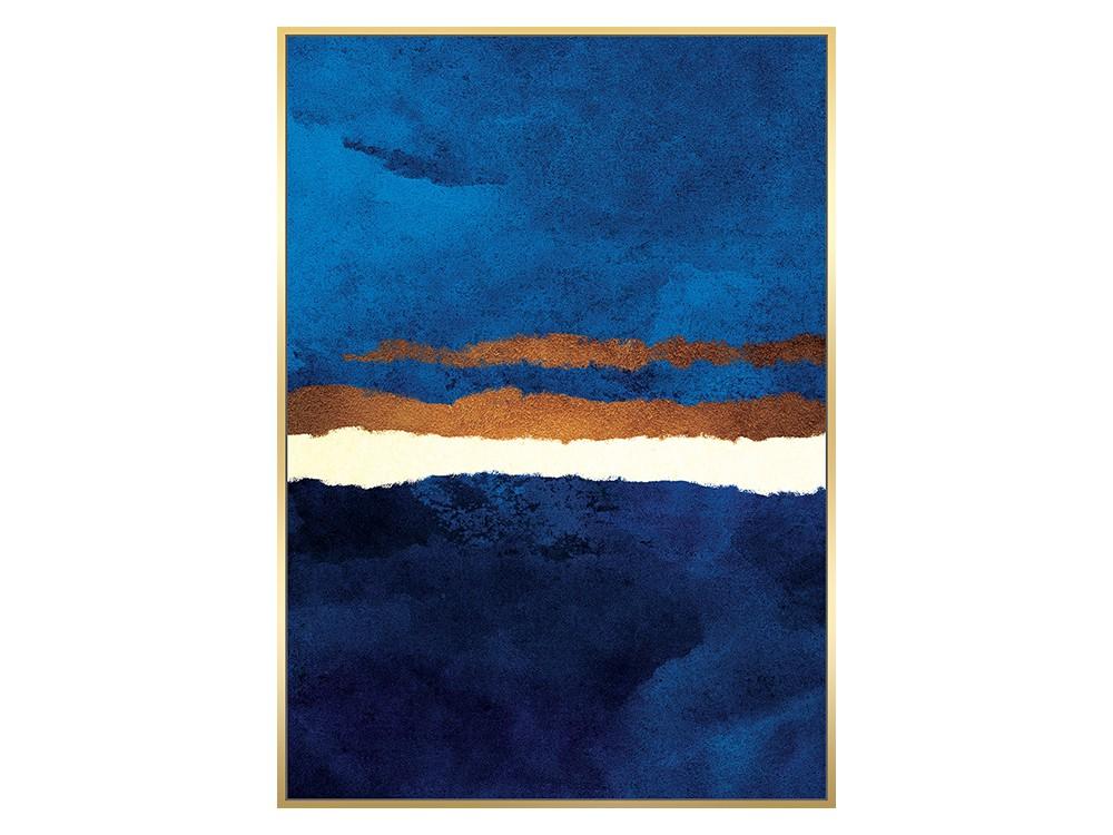 Eurohome Изображение в цветах кобальт и медь 102 х 142 см TOIR22613