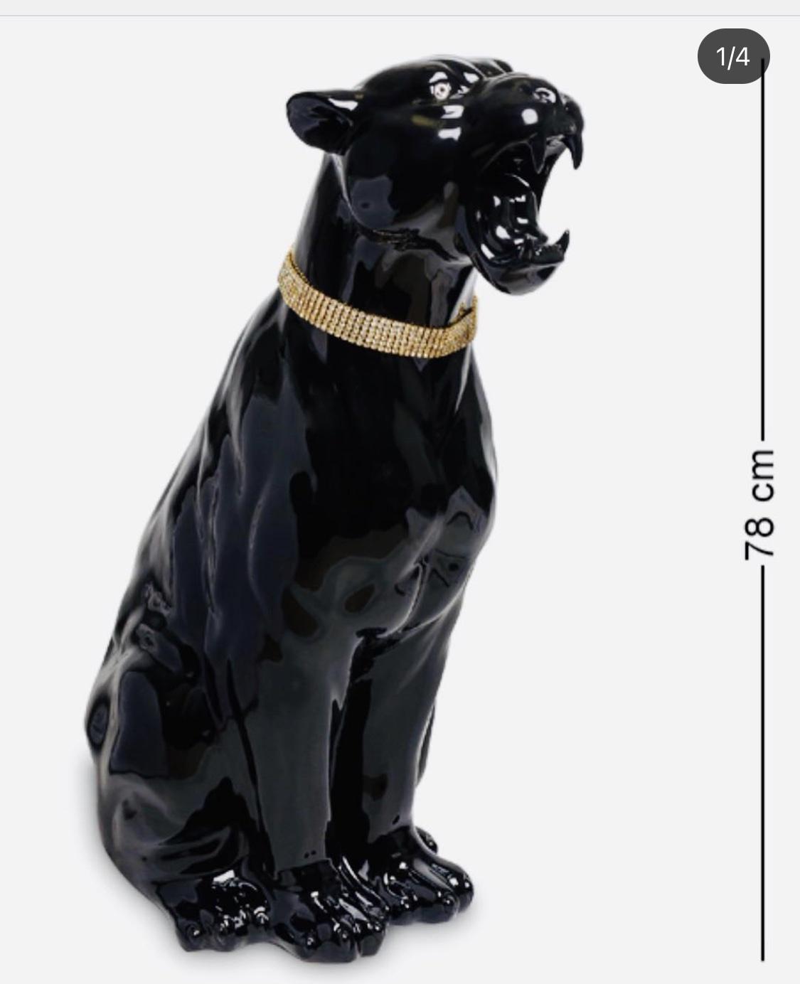 Статуэтка «Пантера», керамика